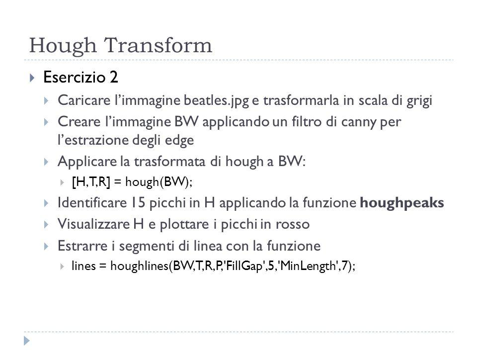 Hough Transform Esercizio 2