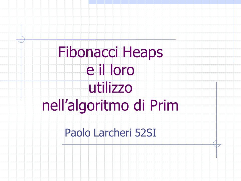 Fibonacci Heaps e il loro utilizzo nell'algoritmo di Prim