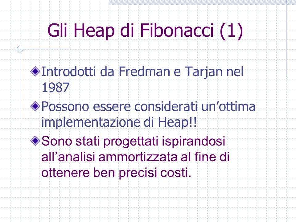 Gli Heap di Fibonacci (1)