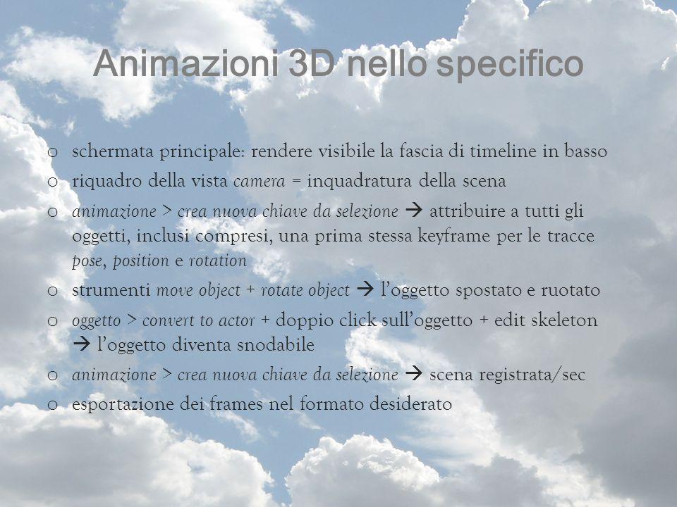 Animazioni 3D nello specifico