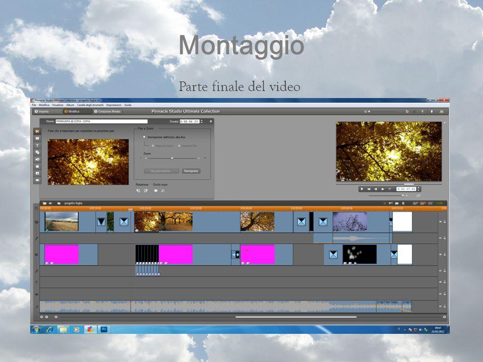 Montaggio Parte finale del video