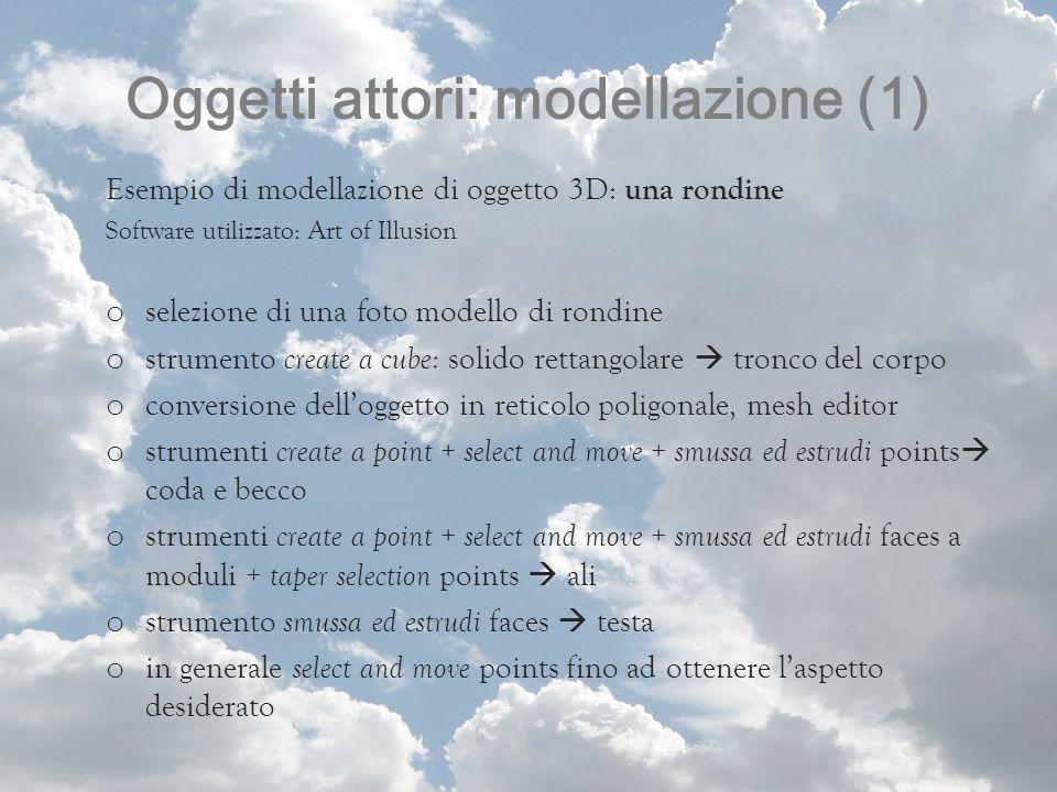 Oggetti attori: modellazione (1)