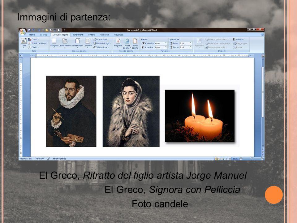 Immagini di partenza: El Greco, Ritratto del figlio artista Jorge Manuel El Greco, Signora con Pelliccia Foto candele