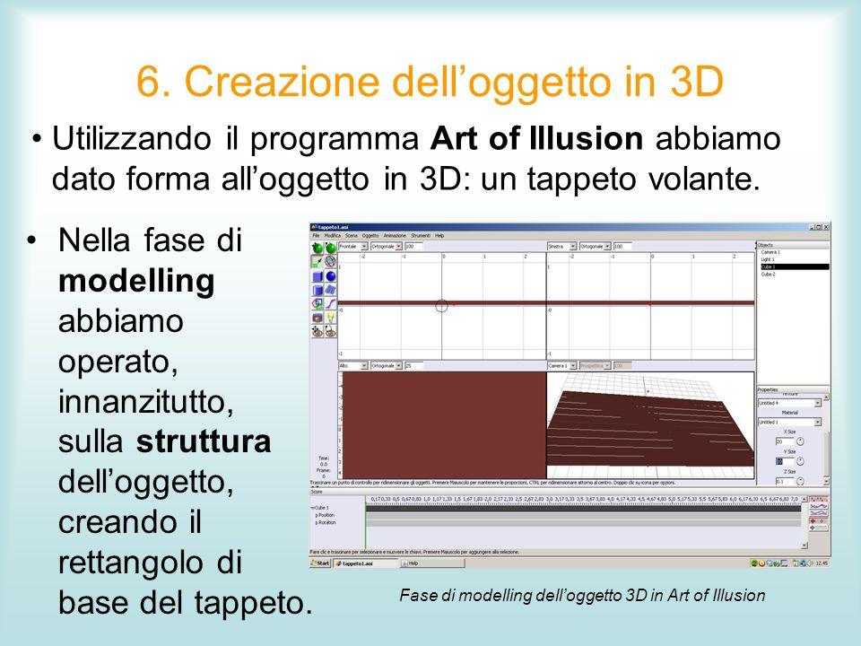 6. Creazione dell'oggetto in 3D