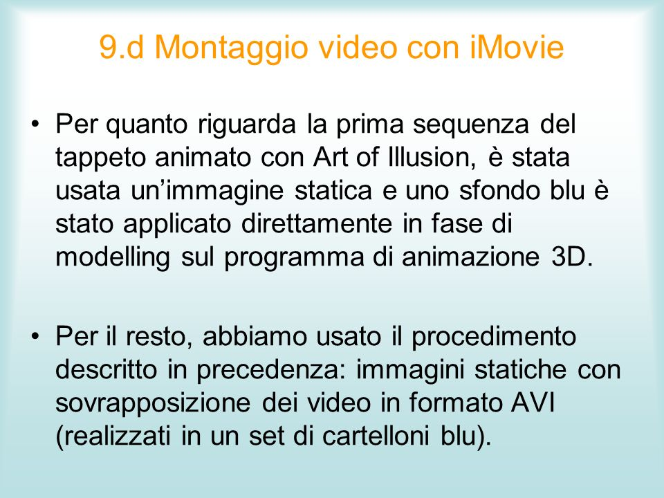 9.d Montaggio video con iMovie