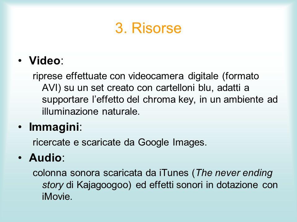 3. Risorse Video: Immagini: Audio: