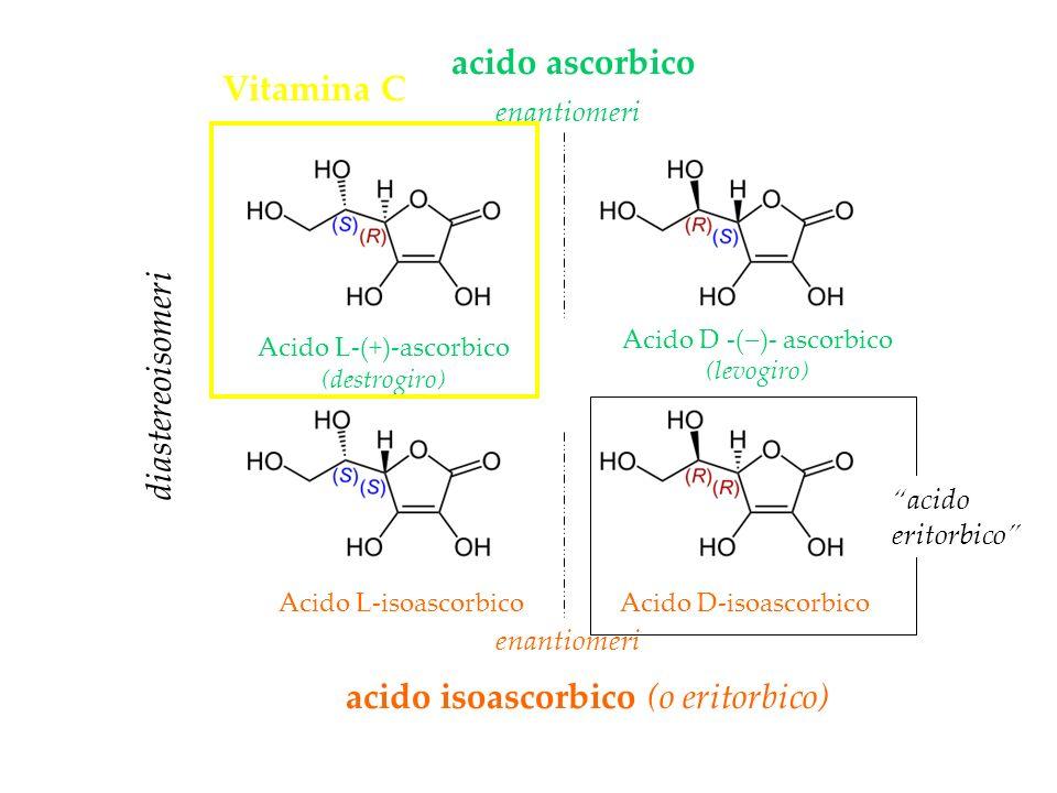 acido isoascorbico (o eritorbico) acido ascorbico Vitamina C
