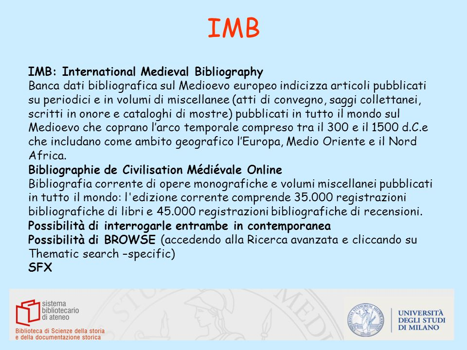 IMB IMB: International Medieval Bibliography