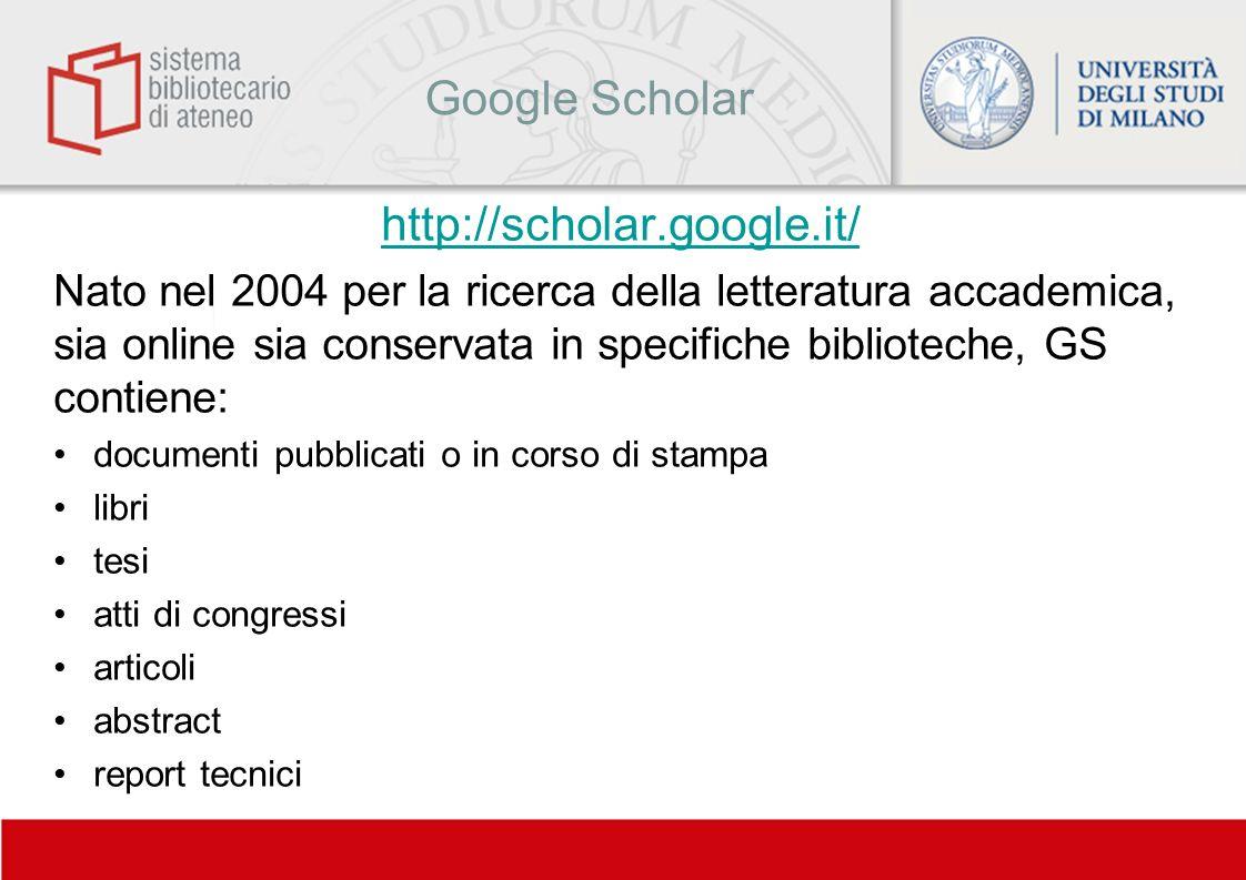 Google Scholar http://scholar.google.it/