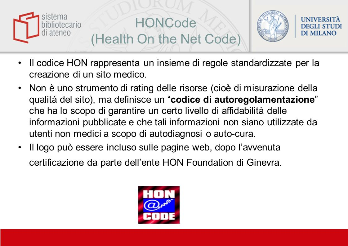 HONCode (Health On the Net Code)