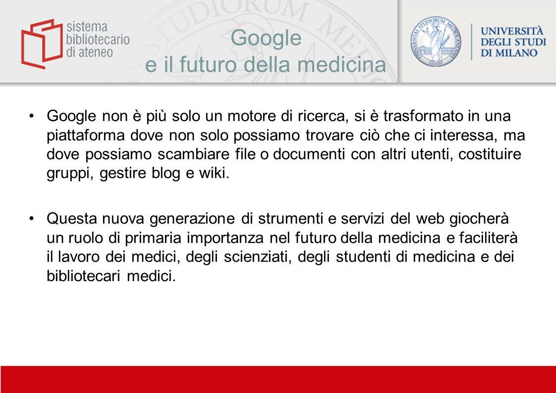 Google e il futuro della medicina