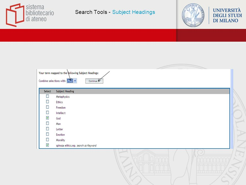 Search Tools - Subject Headings