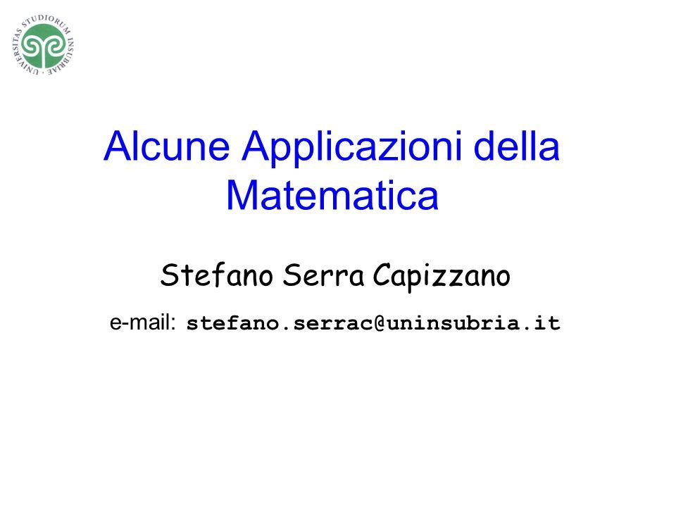 Alcune Applicazioni della Matematica