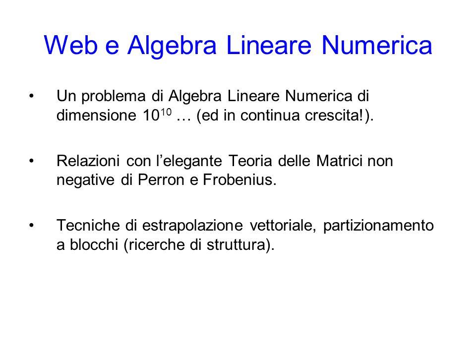 Web e Algebra Lineare Numerica