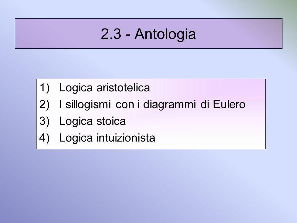 2.3 - Antologia Logica aristotelica