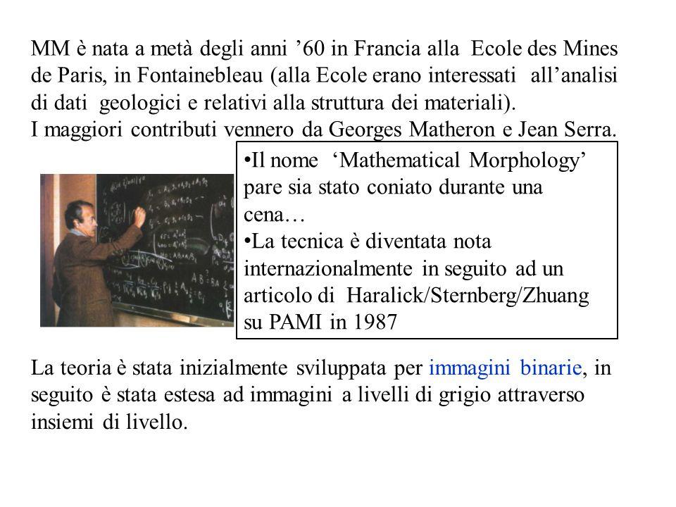 MM è nata a metà degli anni '60 in Francia alla Ecole des Mines de Paris, in Fontainebleau (alla Ecole erano interessati all'analisi di dati geologici e relativi alla struttura dei materiali).