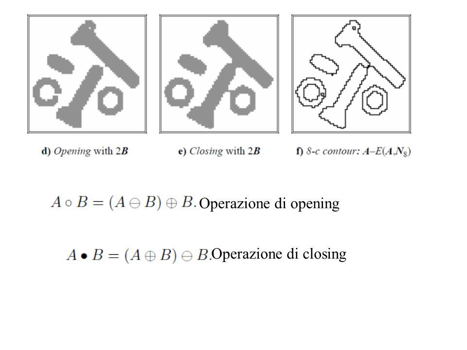 Operazione di opening Operazione di closing