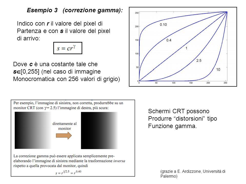 Esempio 3 (correzione gamma):
