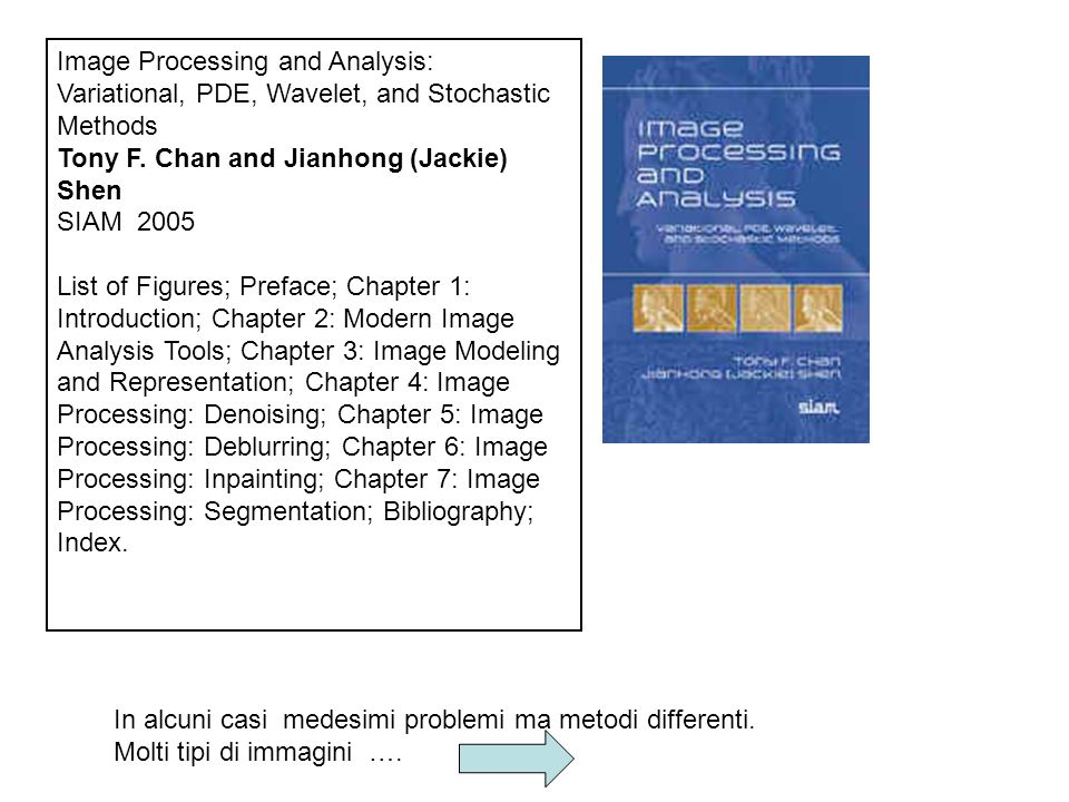 Image Processing and Analysis: Variational, PDE, Wavelet, and Stochastic Methods