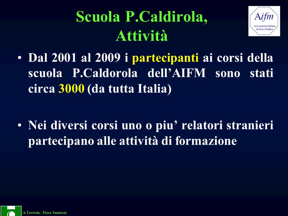 Scuola P.Caldirola, Attività