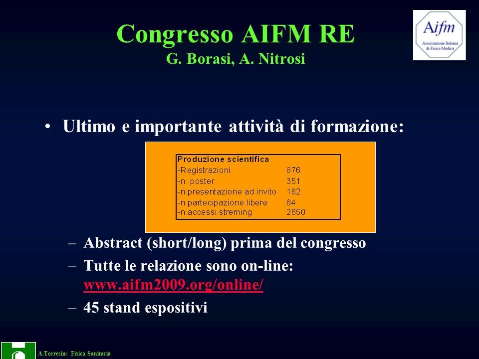 Congresso AIFM RE G. Borasi, A. Nitrosi