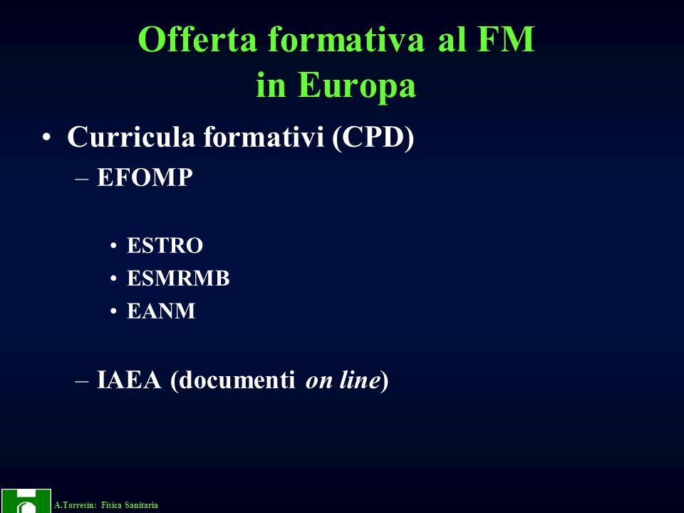 Offerta formativa al FM in Europa