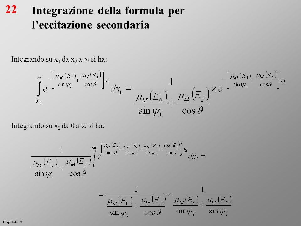 Integrazione della formula per l'eccitazione secondaria