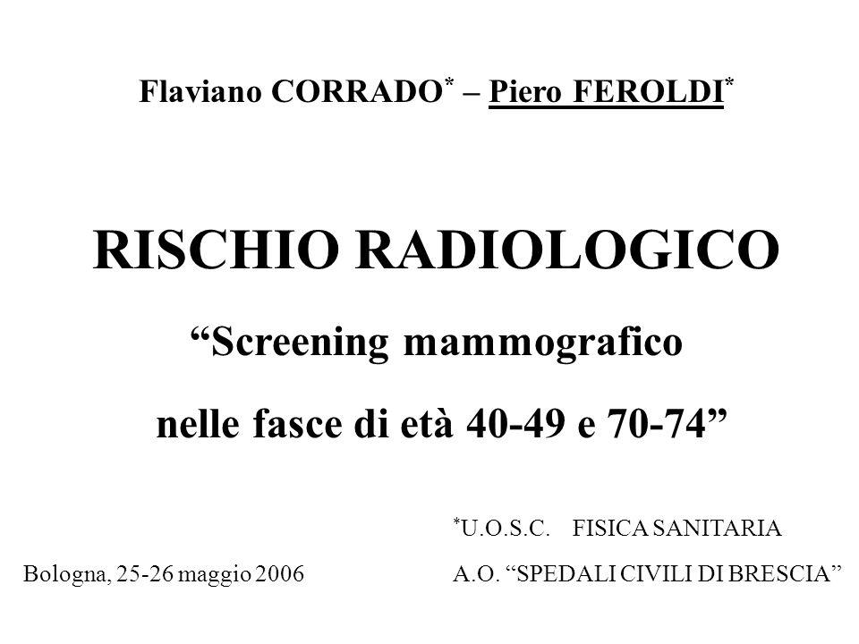 Flaviano CORRADO* – Piero FEROLDI* Screening mammografico