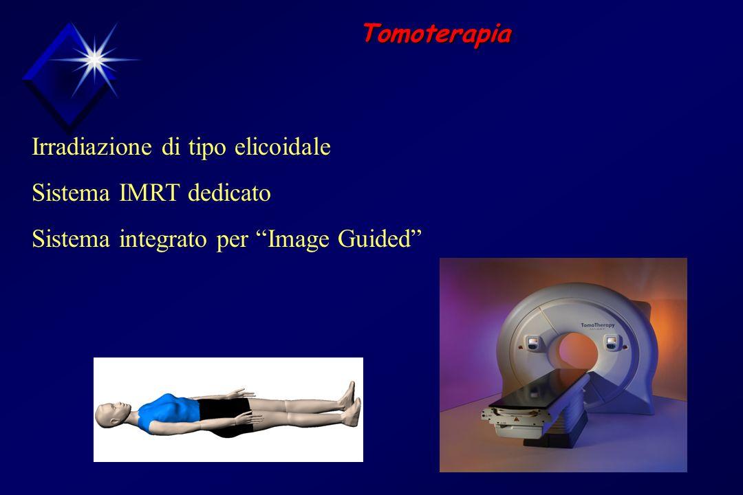 Tomoterapia Irradiazione di tipo elicoidale. Sistema IMRT dedicato.