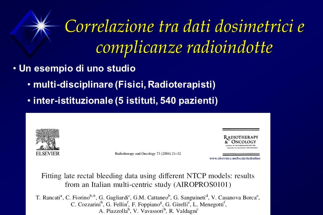 Correlazione tra dati dosimetrici e complicanze radioindotte