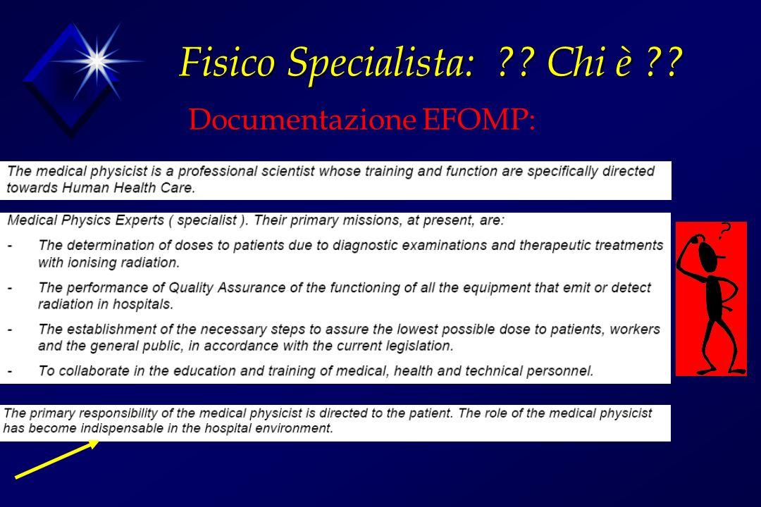 Documentazione EFOMP: