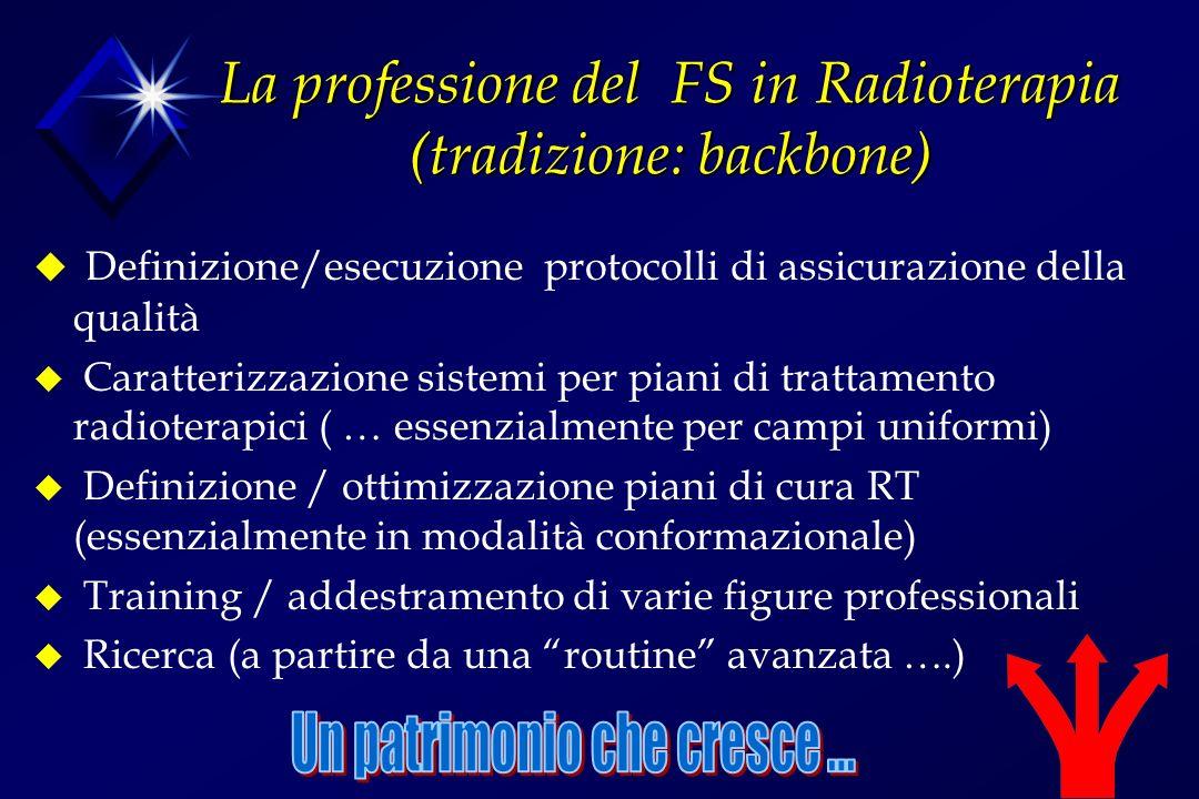 La professione del FS in Radioterapia (tradizione: backbone)