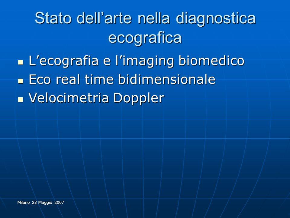 Stato dell'arte nella diagnostica ecografica