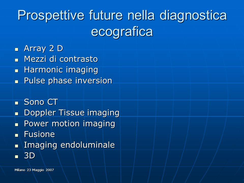 Prospettive future nella diagnostica ecografica