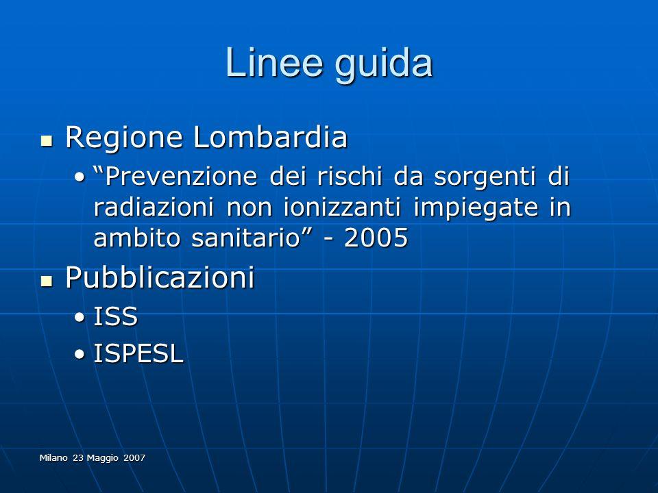 Linee guida Regione Lombardia Pubblicazioni