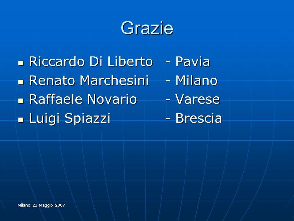 Grazie Riccardo Di Liberto - Pavia Renato Marchesini - Milano