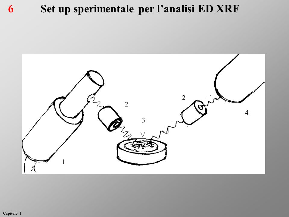 Set up sperimentale per l'analisi ED XRF