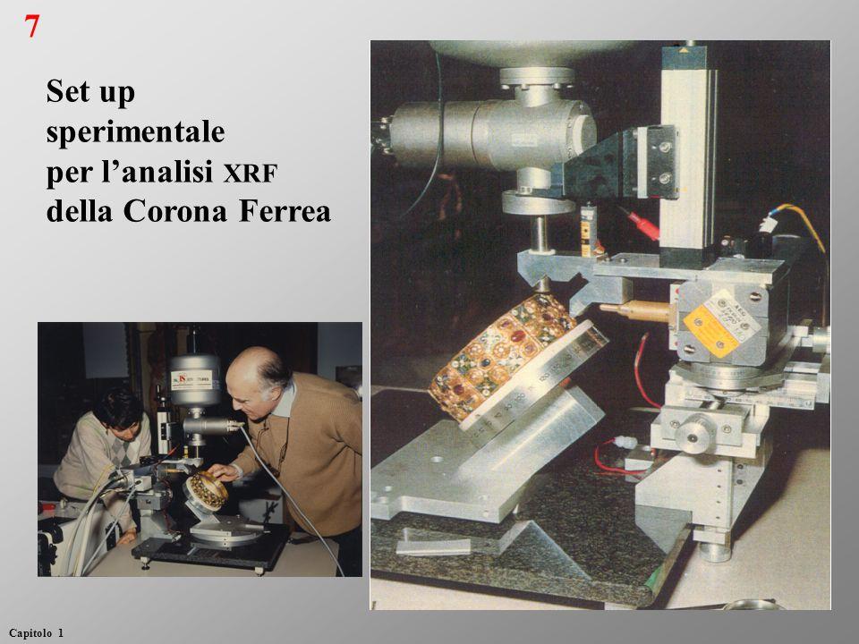 7 Set up sperimentale per l'analisi xrf della Corona Ferrea