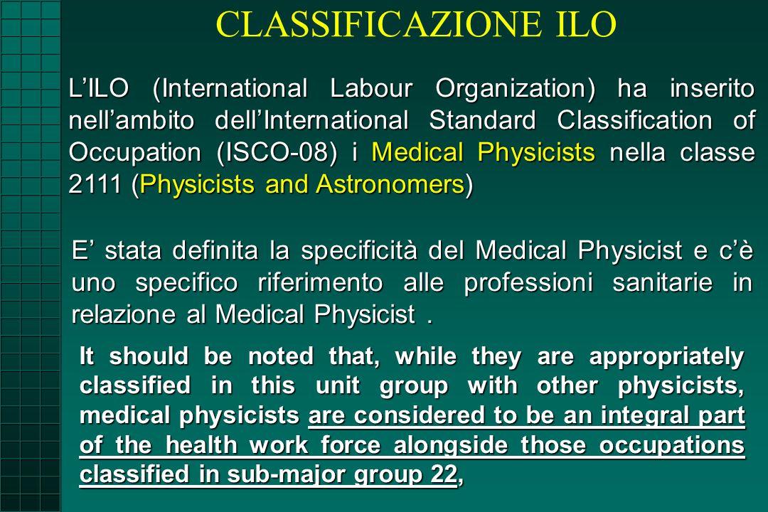 CLASSIFICAZIONE ILO
