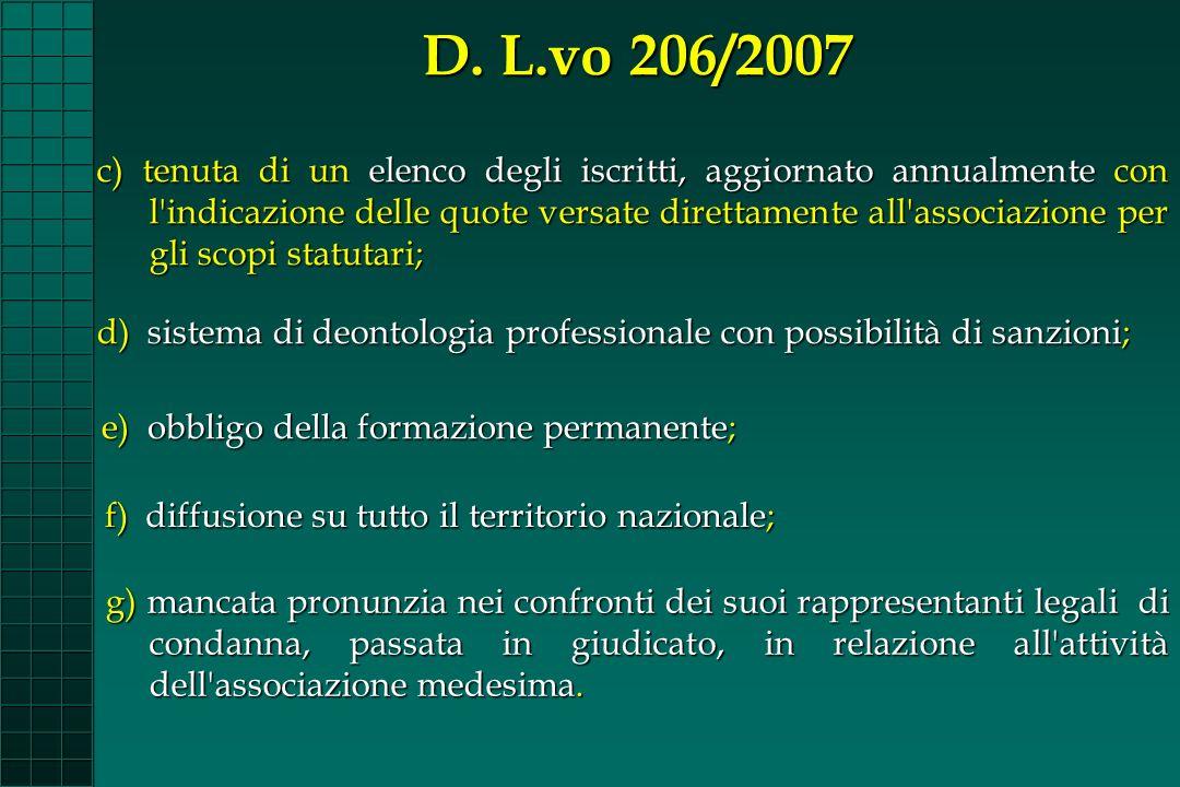 D. L.vo 206/2007