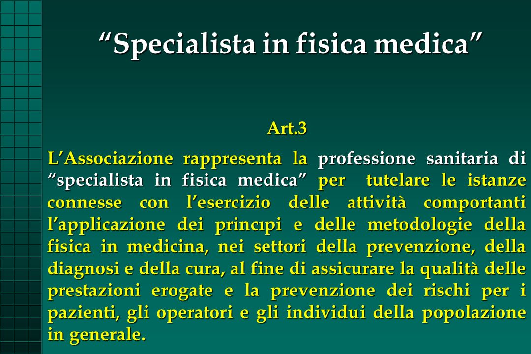 Specialista in fisica medica