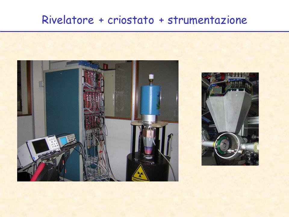 Rivelatore + criostato + strumentazione