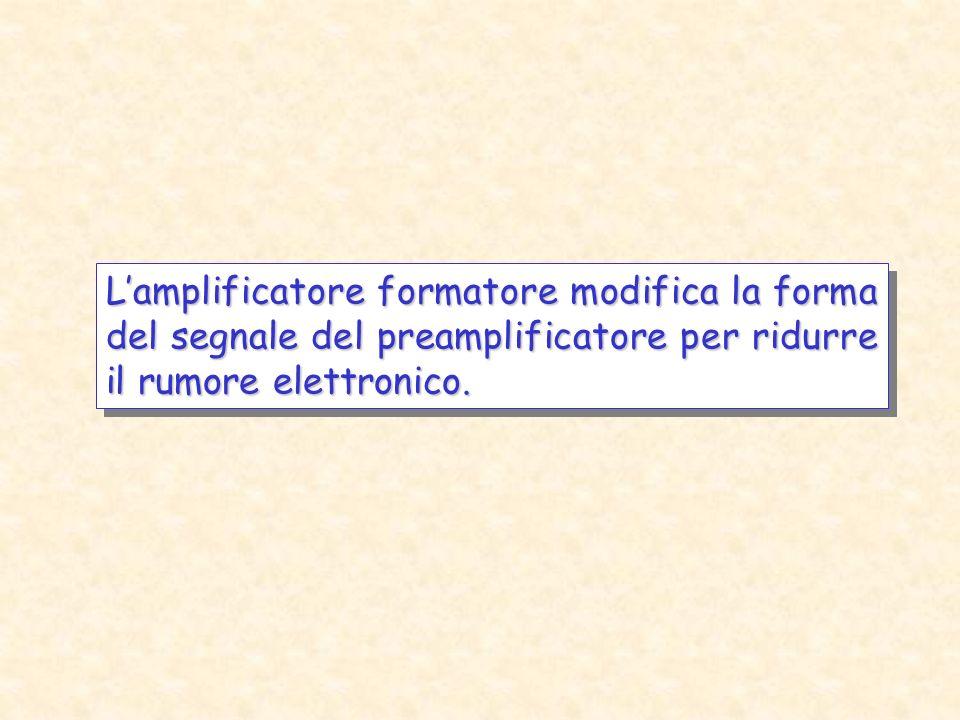 L'amplificatore formatore modifica la forma del segnale del preamplificatore per ridurre il rumore elettronico.