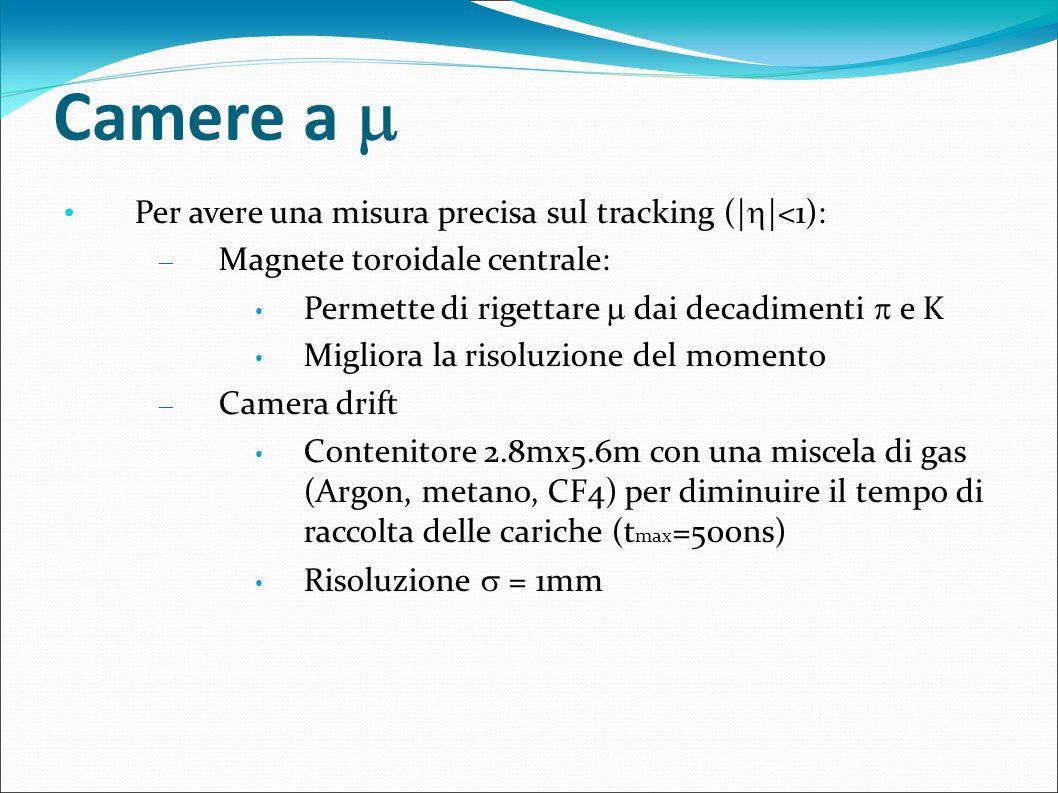 Camere a  Per avere una misura precisa sul tracking (||<1):