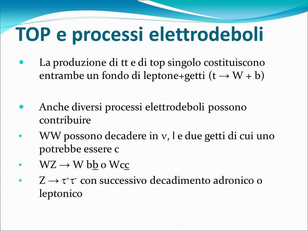 TOP e processi elettrodeboli