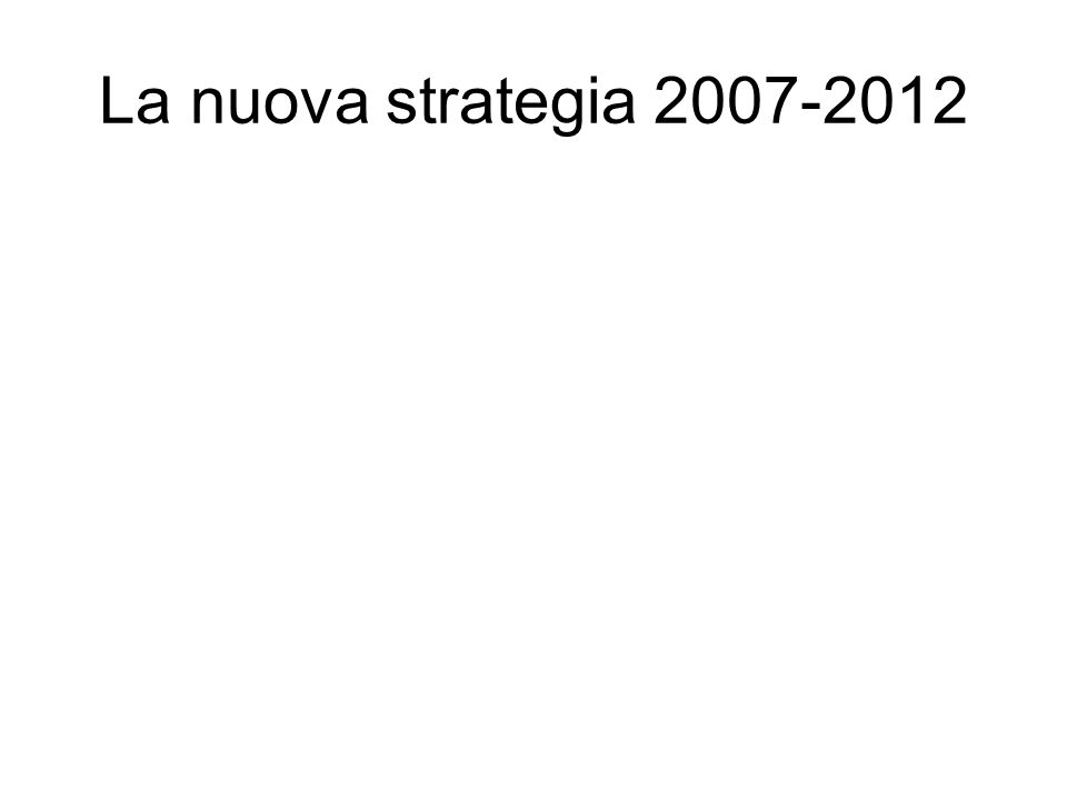 La nuova strategia 2007-2012