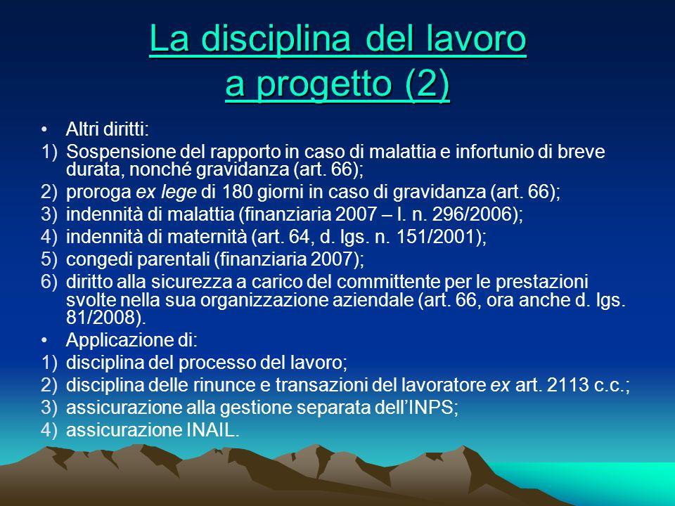 La disciplina del lavoro a progetto (2)