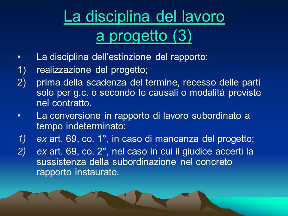 La disciplina del lavoro a progetto (3)