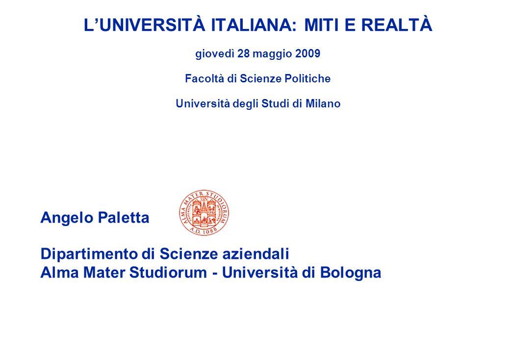 L'UNIVERSITÀ ITALIANA: MITI E REALTÀ