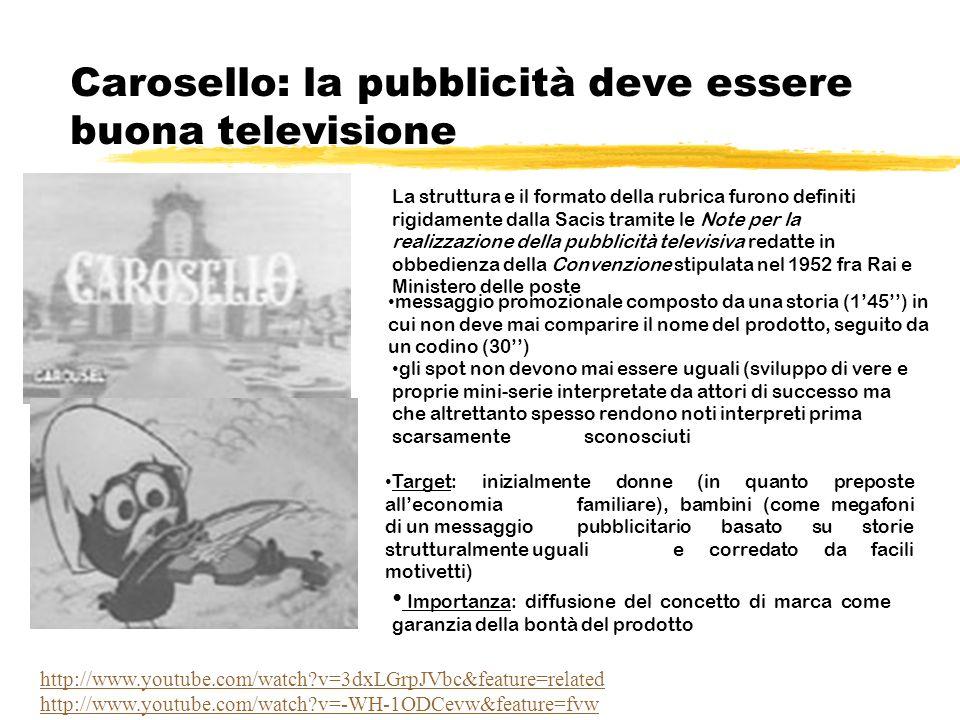 Carosello: la pubblicità deve essere buona televisione